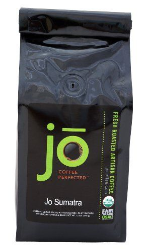 JO SUMATRA: 12 oz, Dark Roast, Whole Bean Arabica Coffee, Organic Sumatra Mandheling, USDA Certified Organic, Fair Trade Certified, Gourmet Coffee from the Jo Coffee Collection - http://goodvibeorganics.com/jo-sumatra-12-oz-dark-roast-whole-bean-arabica-coffee-organic-sumatra-mandheling-usda-certified-organic-fair-trade-certified-gourmet-coffee-from-the-jo-coffee-collection/