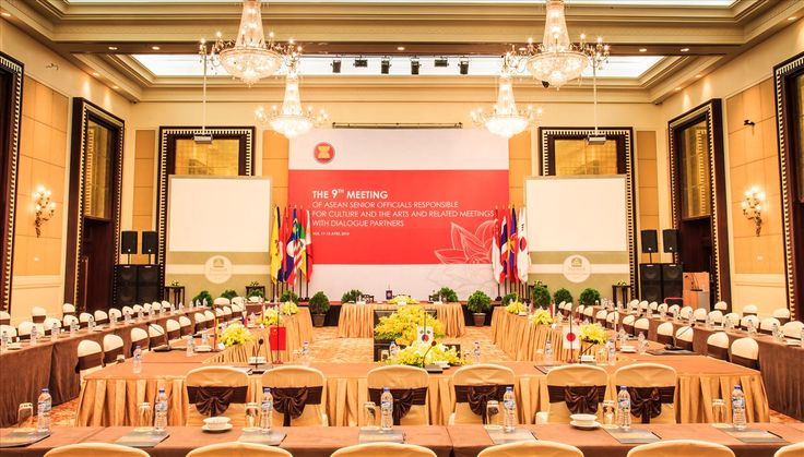Set up for ASEAN conferences and meetings