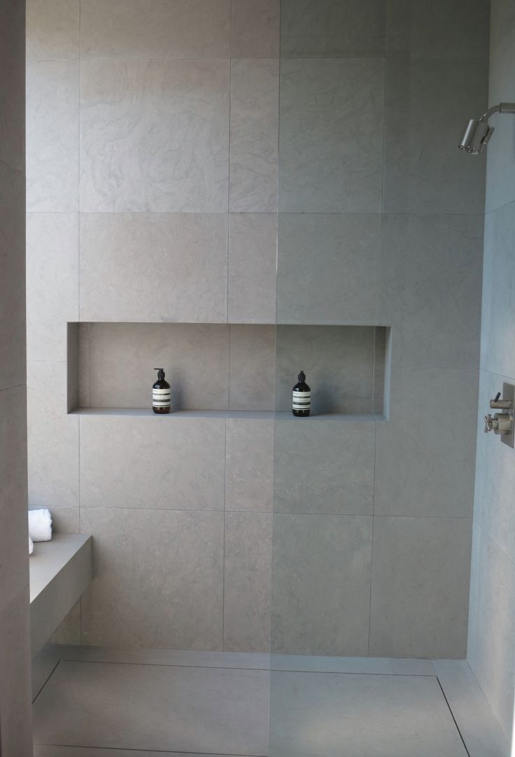 Delightful Proper Length Recessed Shower Shelf   Add Feature Tile Tho. One877 Rising  Glen Guest Bathroom