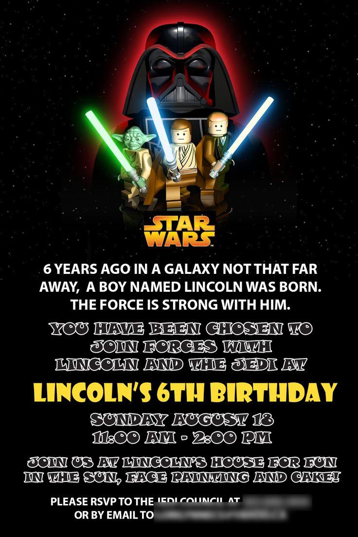 Einladung 6 Geburtstag: Starwars Birthday Invitation