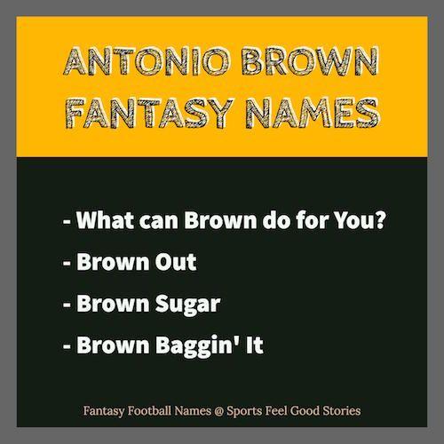 Antonio Brown Fantasy Football Names | Trivia Steelers Team