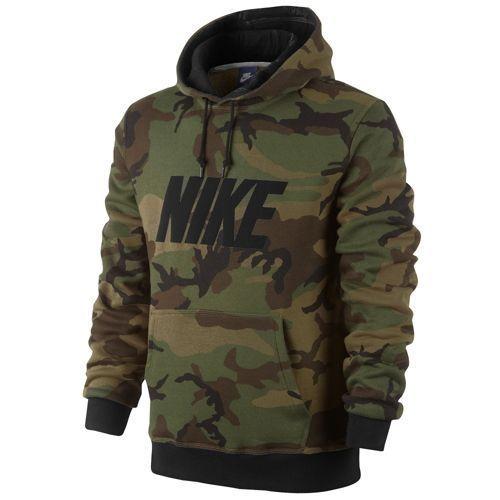 Nike Club PO Hoodie Woodland Camo - Men's at Foot Locker: