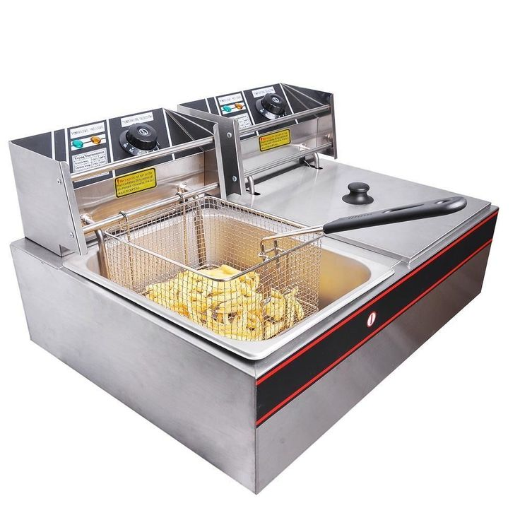 Ktaxon Electric Countertop Multi Deep Fryer Dual Tank 12L 5000W Roaster Steamer #Ktaxon