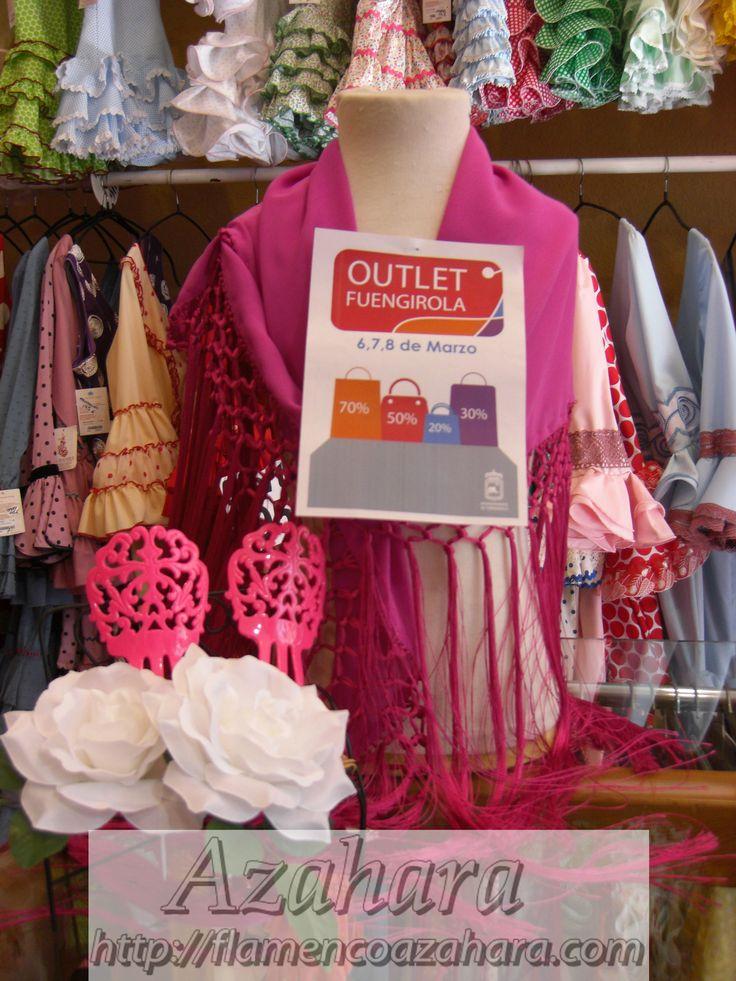 #Outlet #moda #flamenca del 6 al 8 de marzo en Av. Condes de San Isidro, #Fuengirola. #flamencoazahara