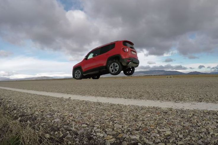 "The little Jeep Renegade may seem innocent enough, but a Spanish automotive outlet has uncovered one trick the SUV has hidden up its sleeve. A journalist at KM77.com has been able to perform what is known as a ""stoppie,"" a maneuver in which the rear wheels lift off the ground after hard braking. And fortunately, it's all on video for our viewing pleasure. Pablo David Go…"