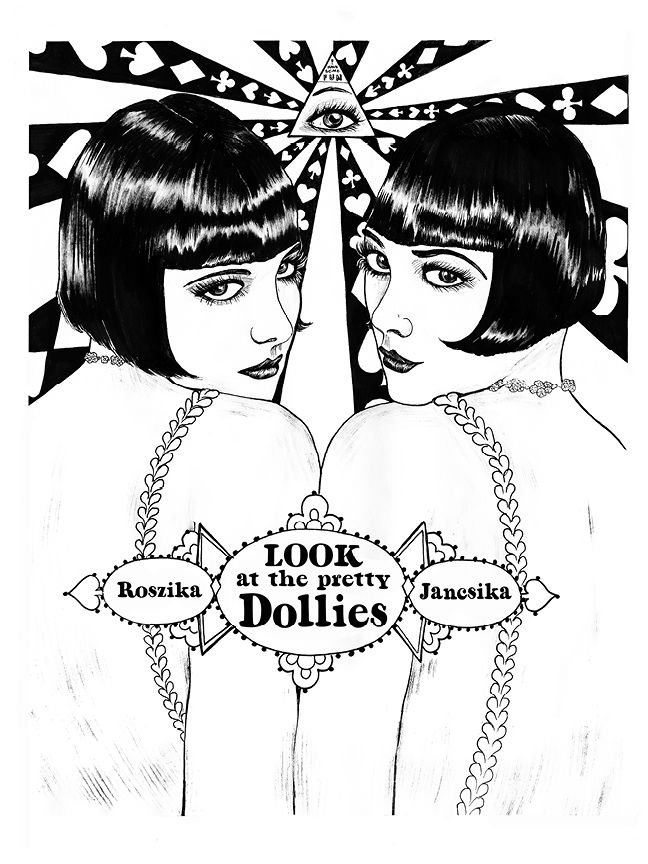 The Dolly Sisters, from Illuminating the Stars Volume 1 by Alicia Justus. Currently funding on Kickstarter: http://kck.st/1wD7LNa
