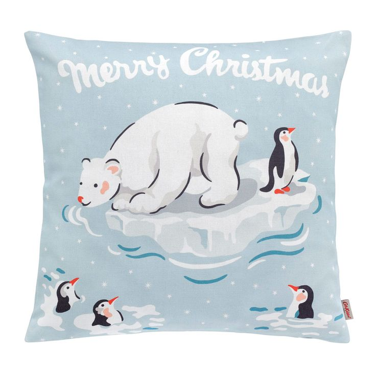 Polar Bears and Penguins feature heavily in our Christmas 2017 collection, this cushion pairs perfectly with our stocking and sack!