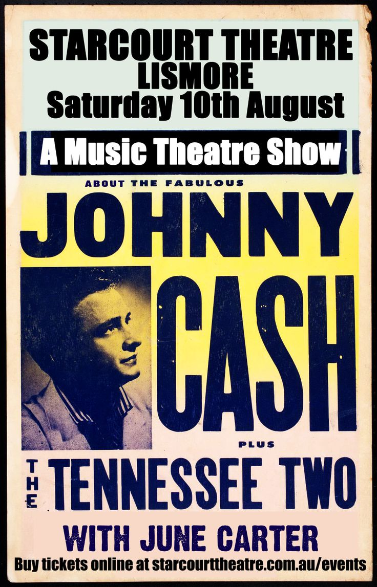 Poster for the Starcourt Theatre Johnny Cash Tribute show. Written by and starring Barry Ferrier