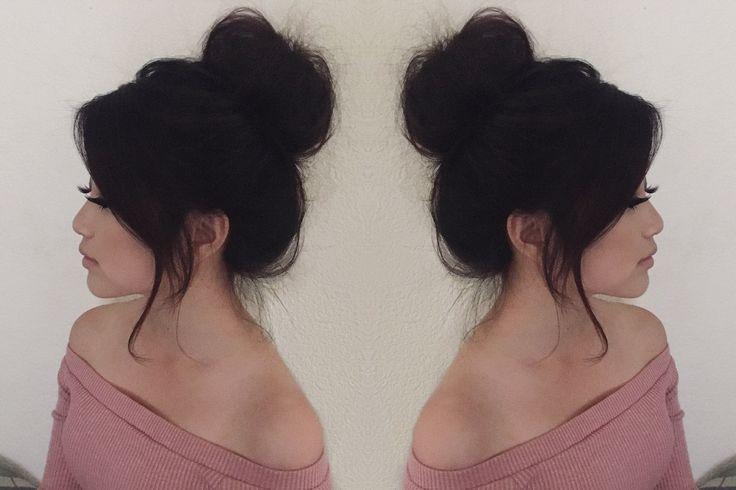 Everyday Messy Hair Bun Tutorial | Medium Length Hair