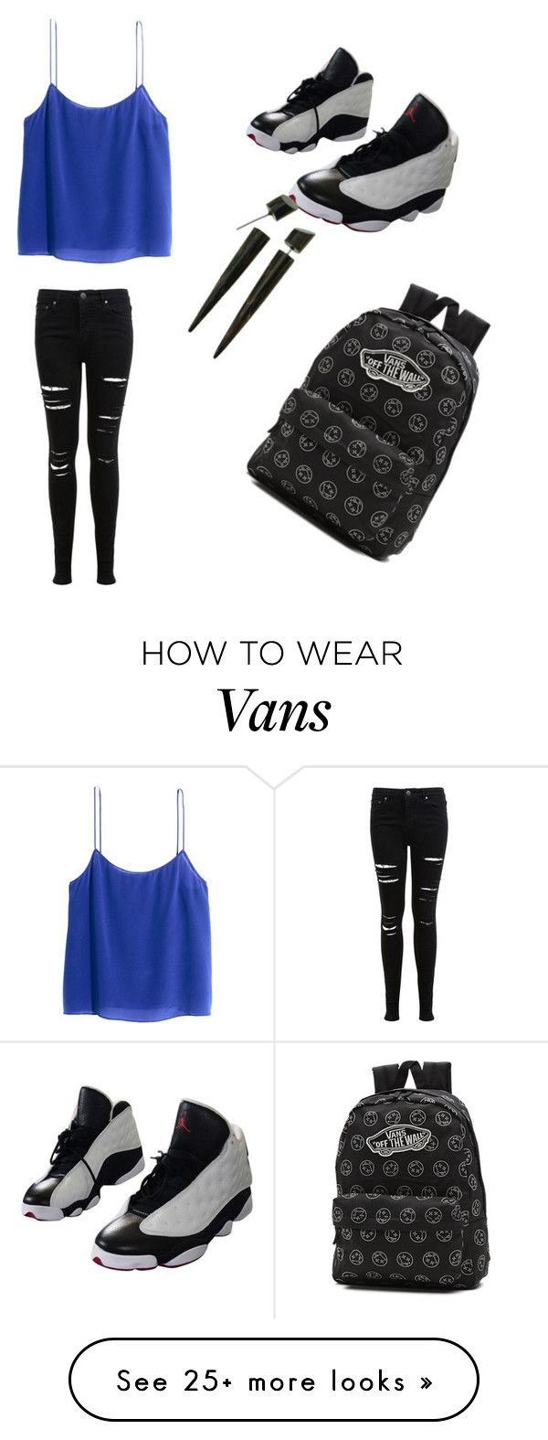 """""""First one"""" by jmt040803 on Polyvore featuring H&M, Miss Selfridge, NIKE and Vans"""