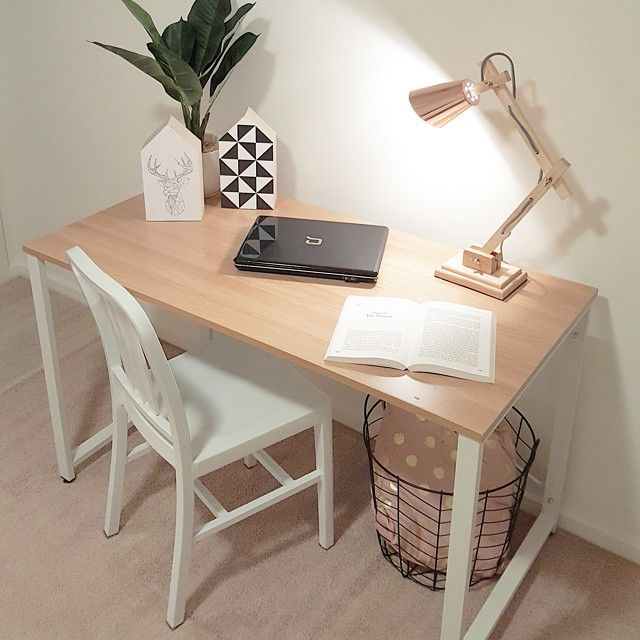 How cute is this study desk nook! We cannot get enough of a cozy copper corner! loving our lamps! #propertystyling #kmart