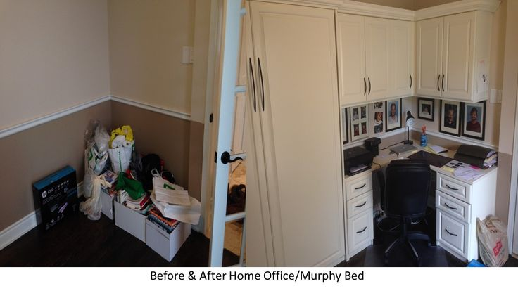 This condo owner needed to add a functioning office but also turn it into a spare room when guests stay over.