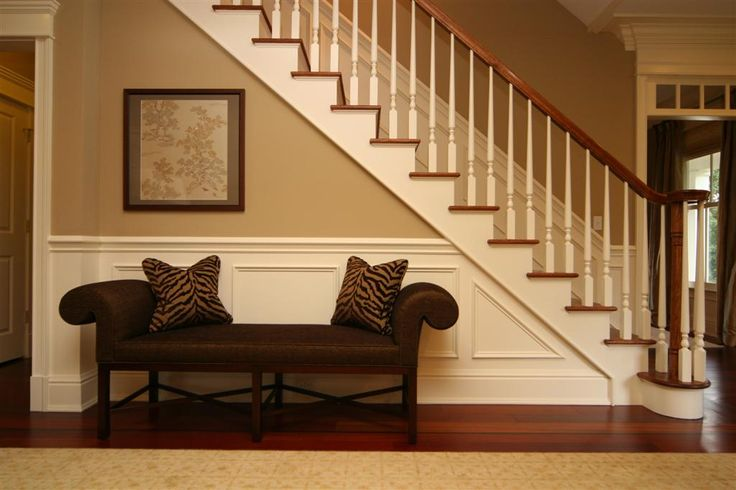 Elegant Foyer Benches : Best images about under our staircase on pinterest