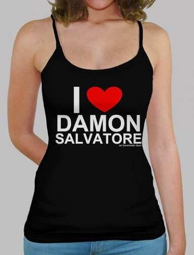 Prezzi e Sconti: I #damon cuore t-shirt bretelle ragazza  ad Euro 22.00 in #Tostadora #T shirt donna