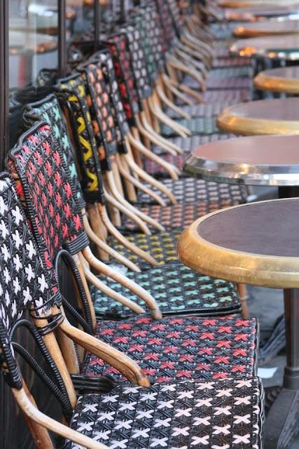 fabulous Parisian rattan bistro chairs.