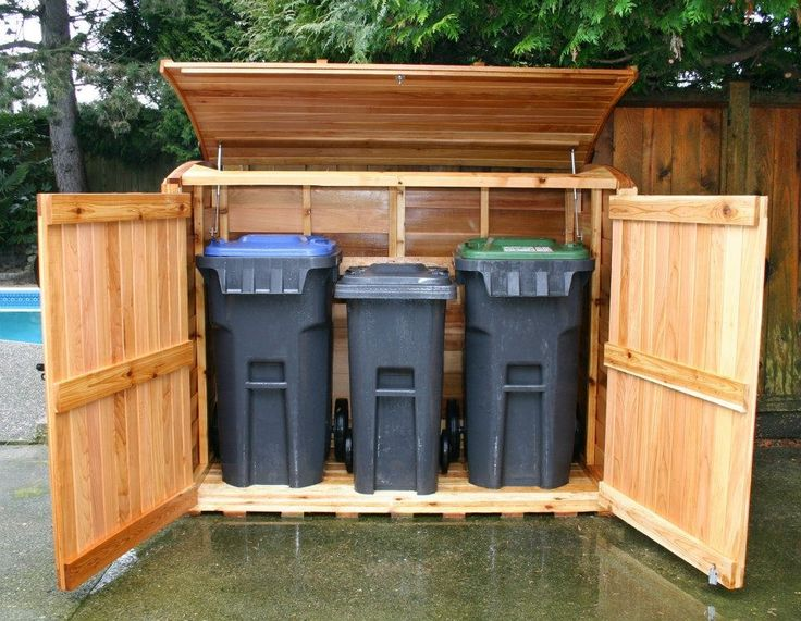garbage can shed | Outdoor Living Today | 6x3 Oscar Trash Can Storage Shed OSCAR63