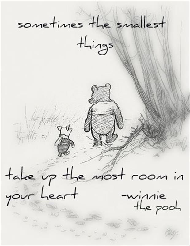 The smallest things....