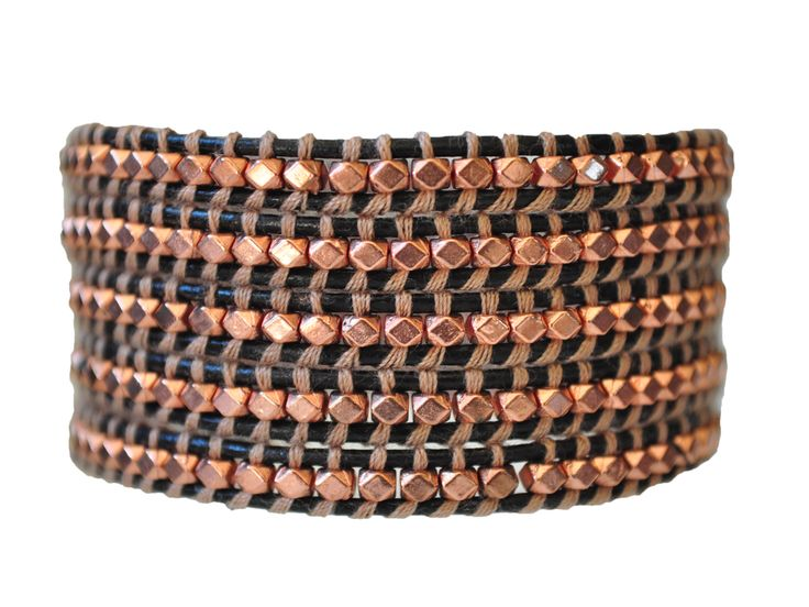 Get on my arm! Birthday present for me? Rose gold leather wrap bracelet. #emmajaxon #2014style #stylish #accessories #bracelet