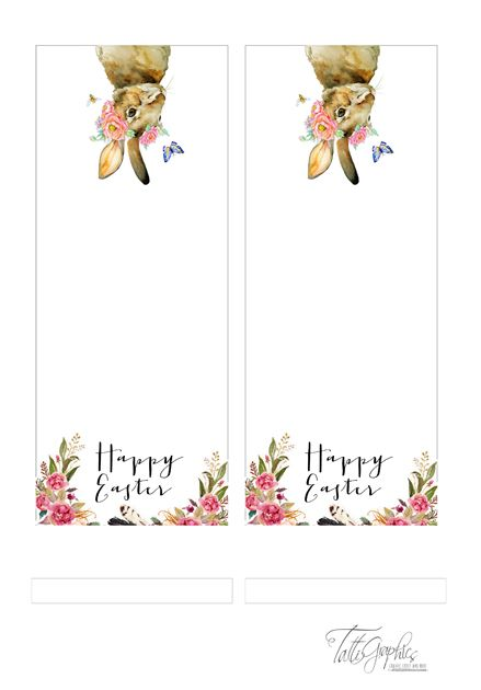 FREE printable Easter place cards ♡ | TattiGraphics