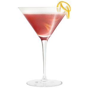 French Martini 1.5 oz vodka  1/2 oz Chambord  2 oz pineapple juice   Shake ingredients with ice and strain into a martini glass. Garnish with a pineapple wedge or a leaf from the pineapple for a sleek modern look.