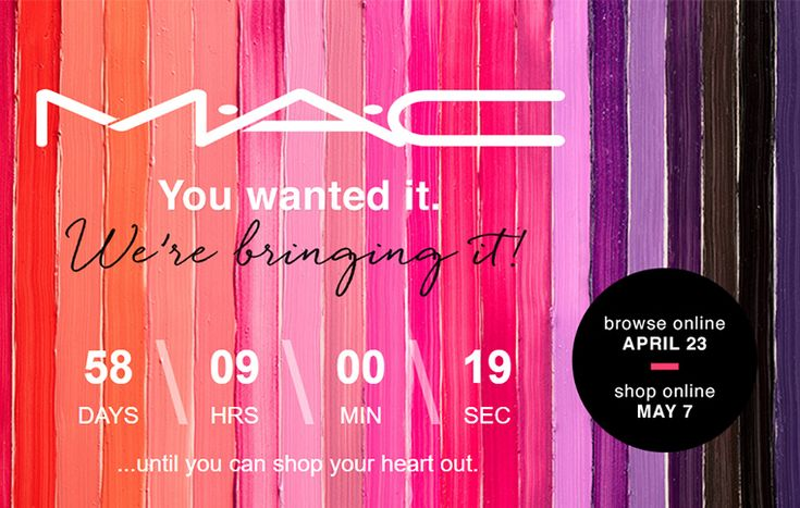 MAC Cosmetics Launches at Ulta ULTA will be launching MAC Cosmetics on May 7th (you can browse online beginning April 23rd, and then shop online May 7th).