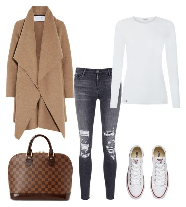 """Fall Movie Night - My Closet"" by arta13 on Polyvore featuring J Brand, Harris Wharf London, Converse and Louis Vuitton"