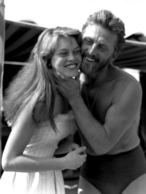 Brigitte Bardot and Kirk Douglas at the Cannes Film Festival, 1953.
