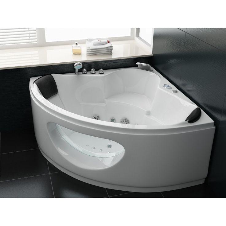 La baignoire balnéothérapie Hypnose 10 avec ses lignes épurées et sa cascade de remplissage vous permettra d'aménager un espace de bien-être au design moderne.https://www.cosy-tendance.com/baignoire-balneo-d-angle-pas-cher/552-baignoire-d-angle-balneo-hypnose-10-13813866-cm-3760240192695.html