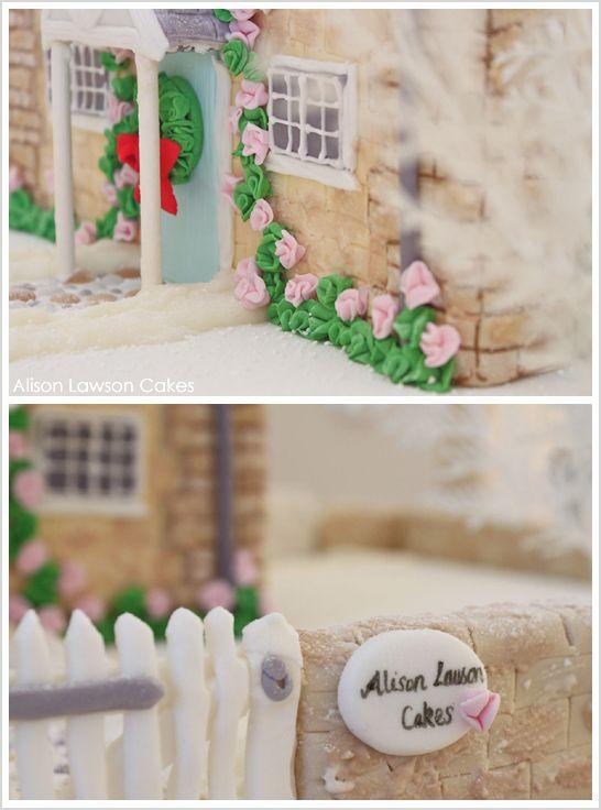 Winter English Cottage Cake by Alison Lawson  |  TheCakeBlog.com
