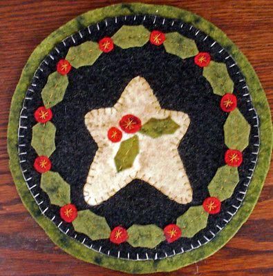 Tapete De Vela de Natal de quatro penny Tapete padrões para escolher para De Feltro De Lã