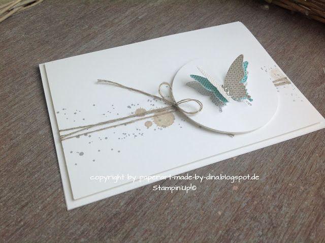 Beau papier à la main: Papillons propre et simple