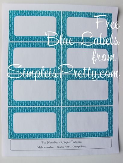 Simple is Pretty Free Printables, Free Grocery List, Free Weekly To Do List, Free Babysitter Notes, Free Labels...