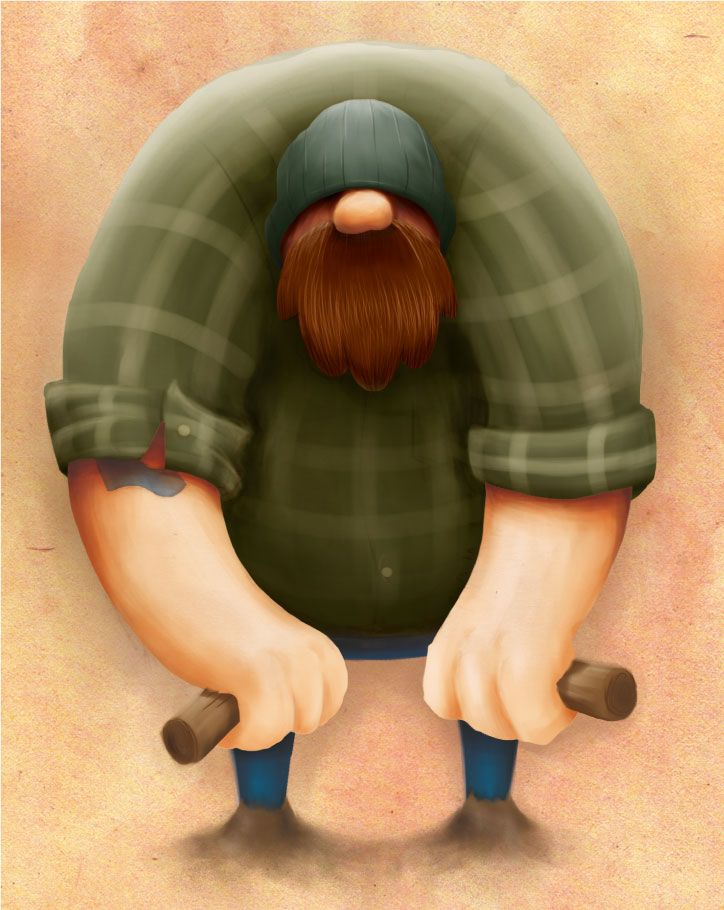 Character design for lumberjack.
