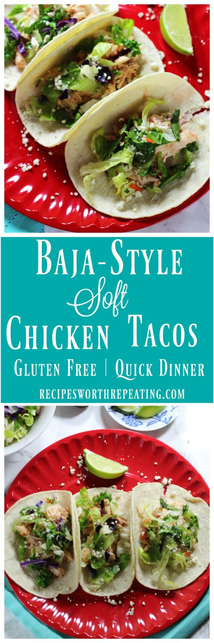 This one's a keeper! These Baja-Style Soft Chicken Tacos are a twist on the classic Baja fish tacos! Easy to make and perfect for that quick dinner during the week!