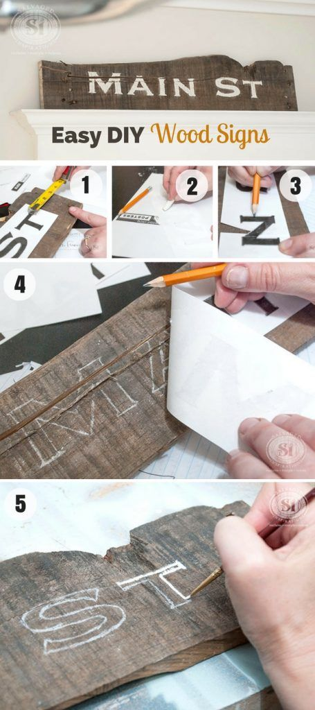 Check out how to make Easy DIY Wood Signs @istandarddesign