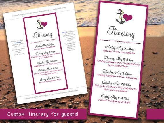 Best 25 wedding itinerary template ideas on pinterest wedding beach wedding itinerary template wedding planner wine gray anchor love destination wedding coordinator junglespirit Images