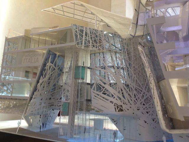 Vista ravvicinata dall'interno del modello del #PadiglioneItalia per #Expo2015 di Milano