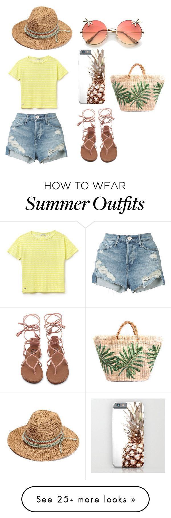 """""""Summer Outfit☀"""" by farkoe on Polyvore featuring 3x1 and Lacoste"""