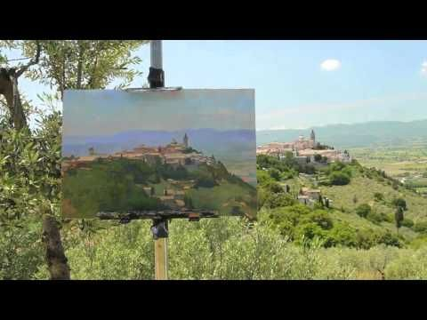 Marc Dalessio's Minute Painting Video #5: Sight-size in Plein air.