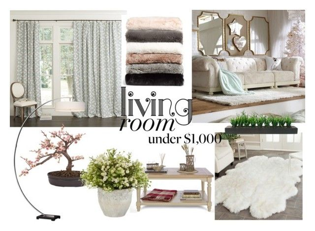 """My perfect living room under #1000"" by madalina-elena-istrati on Polyvore featuring interior, interiors, interior design, home, home decor, interior decorating, PBteen, Laura Ashley, Ballard Designs and Uttermost"