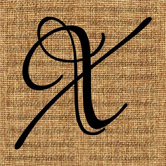 Monogram  Initial Letter X Letter Clip Art by InstantPrintable