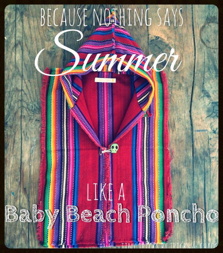 Baby Beach Poncho ~ Tiny Tricks by Tricks & Chaos