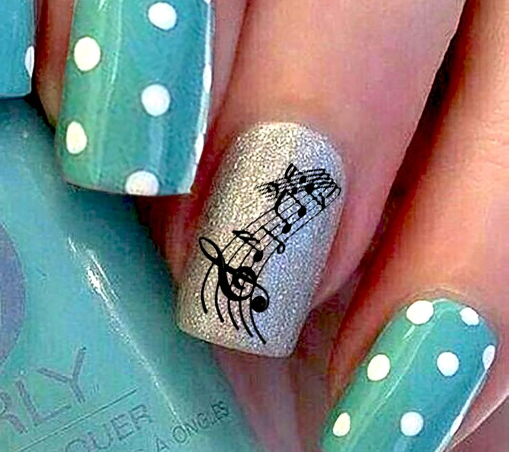 8 best sheet music nail art decals images on pinterest music sheet music set 1 prinsesfo Images