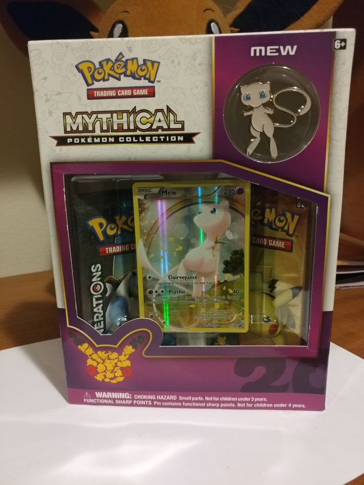 Mythical pokemon mew collection box