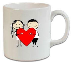 Kalpli Aşıklar – Sevgiliye Hediye Kupa - Şu An Sadece 14,90 TL! Online Siparişe Özel Tasarımlar, Mağazalarda Yok! - Kapıda Ödeme - Süper Baskı ve Penye Kalitesi