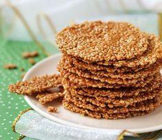 Вкусное и полезное кунжутное печенье.