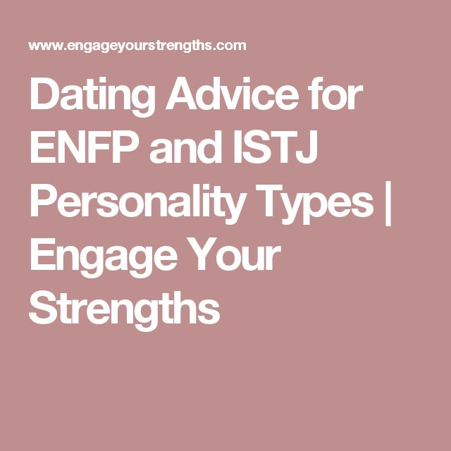istj dating Istjs enter the dating realm when it is on their internal list of things to do they make faithful dedicated partners once they decide to commit to a relationship, they will stick with it until the end out of their sense of responsibility and duty, they will make certain to fulfill their role in the relationship.