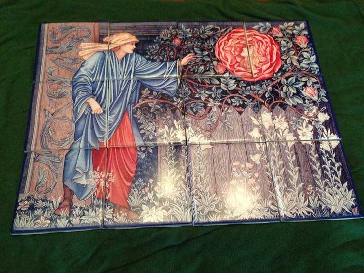 Heart of Rose ceramic tile mural - WilliamMorrisTile.com