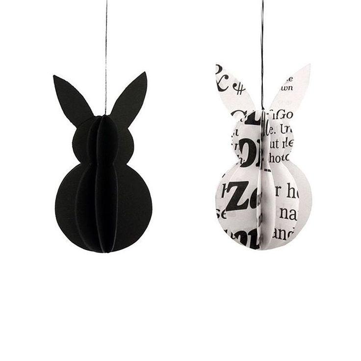 """""""Die OsterHasen für die Osterdeko sind im Shop aufgefüllt. ⚪️⚫️ [Shop Link im Profil] // the EasterBunnies are restocked. #rennadeluxeshop #rennadeluxe…"""""""