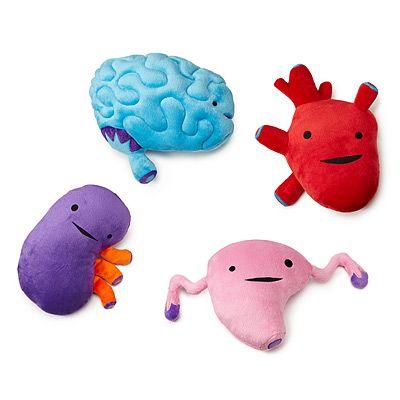 plush organs. so cuddly.: Stuffed Heart, Holiday Gift, Gift Ideas, Plush Organic, Funny Stuff, Kids, Nerdygeeki Plushies, Products, Heart Gut